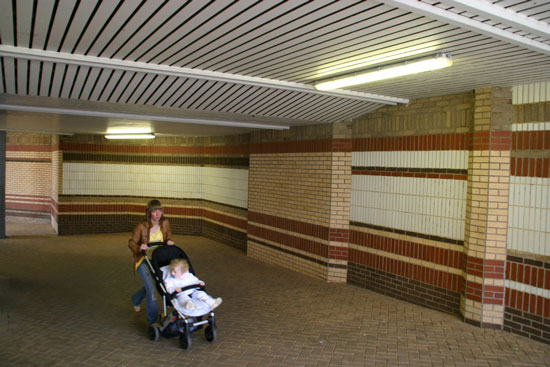 Site of the New Tiled Mural Before